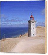lighthouse Rubjerg Wood Print by Giorgio Darrigo