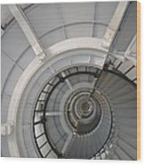 Lighthouse Stairs 2 Wood Print