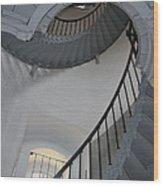 Lighthouse Stairs 3 Wood Print