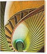 Lighthouse Stairway - Point Loma San Diego Wood Print