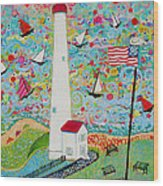 Cape May Point Lighthouse Magic Wood Print