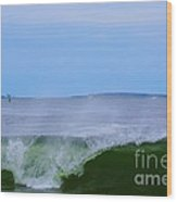 Lighthouse Through Wave Wood Print