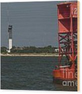 Lighthouse To Buoy Wood Print