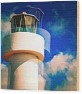 Lighthouse To The Clouds Wood Print