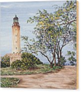 Lighthouse Wood Print by Victor Collector