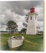 Lighthouse Victoria By The Sea Pei Wood Print