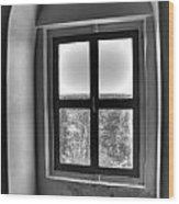 Lighthouse Window At Point Iroquois Wood Print