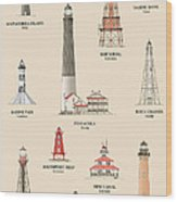 Lighthouses Of The Gulf Coast Wood Print