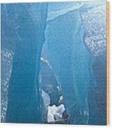 Lighting In Nigardsbreen Glacier Grotto 1 Wood Print