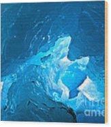 Lighting In Nigardsbreen Glacier Grotto 3 Wood Print
