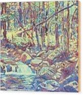 Lighting The Creek Wood Print