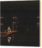 Lighting The Night In York Maine Wood Print