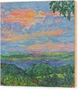 Lighting The Ridge Wood Print
