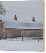 Lightly Browned Barn  7k00040b Wood Print
