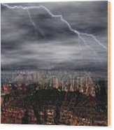 Lightning - North Rim Of Grand Canyon Wood Print