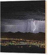 Lightning 1 Wood Print