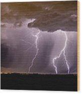 Lightning 11 Wood Print