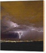 Lightning 13 Wood Print