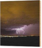 Lightning 16 Wood Print