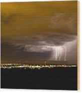 Lightning 17 Wood Print