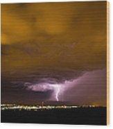 Lightning 18 Wood Print