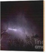 Lightning 2 Wood Print