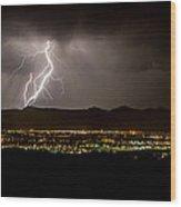 Lightning 4 Wood Print