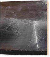 Lightning 8 Wood Print