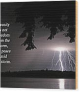 Lightning At Night - Inspirational Quote Wood Print