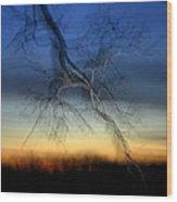 Lightning Branches Wood Print