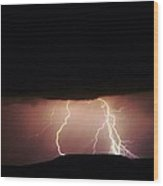 Lightning Dancing Wood Print