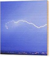 Lightning Over North Boulder Colorado  Ibm Wood Print