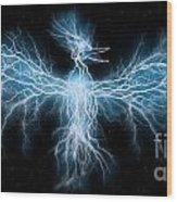 Lightning Phoenix Wood Print