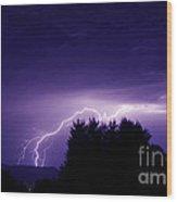 Lightning Skies Wood Print