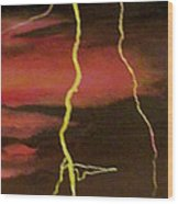 Lightning Sky Wood Print