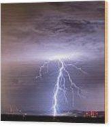 Lightning Strikes Following The Rain  Wood Print
