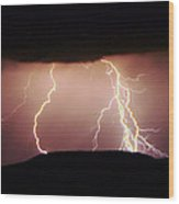 Lightning Walking  Wood Print