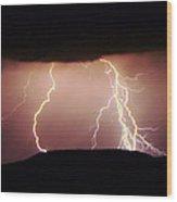 Lightning Walking  Wood Print