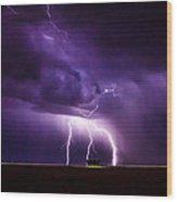 Lightning2 Wood Print