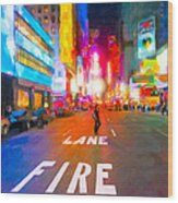 Lights Are Bright On Broadway - Times Square Wood Print