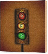 Lights At The Crossing Wood Print by Gianfranco Weiss