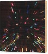 Lights In Motion Wood Print