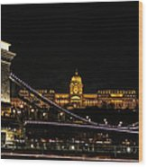 Lights Of Budapest Wood Print