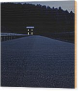 Lights On Up Ahead Wood Print by Edward Fielding