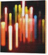 Lights Party Wood Print