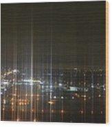 Light's Sound Waves Wood Print by Naomi Berhane