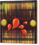 Lights_bleed Wood Print