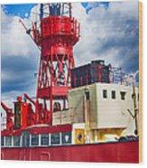 Lightship Lv15 Trinity Wood Print