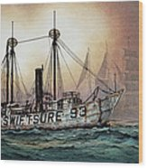 Lightship Swiftsure Wood Print