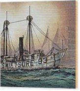 Lightship Swiftsure Wood Print